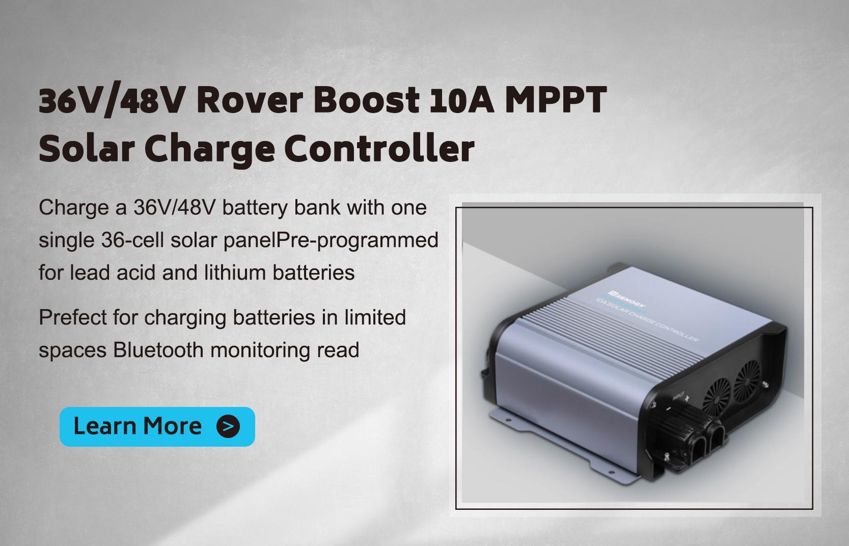 36V/48V Rover Boost 10A MPPT Solar Charge Controller
