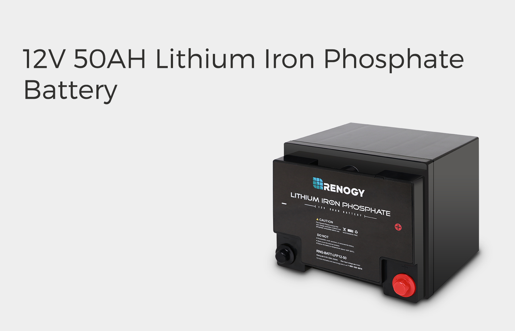 12V 50Ah Lithium Iron Phosphate Battery
