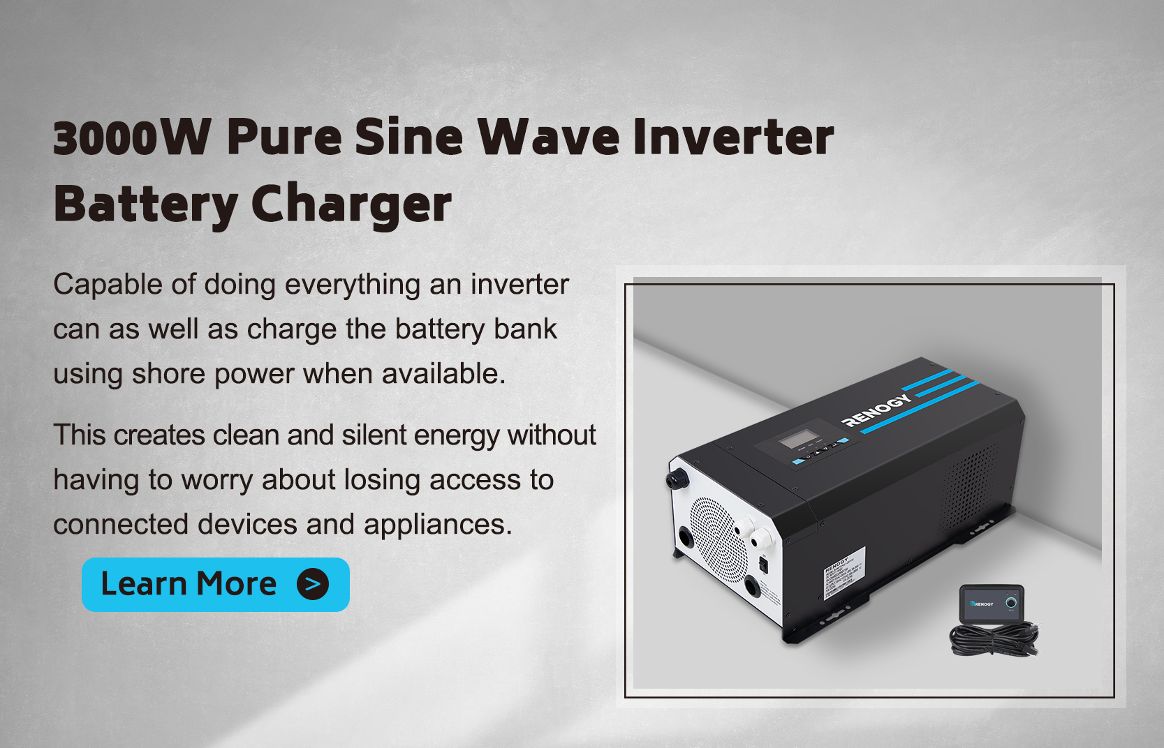 3000W 12V Pure Sine Wave Inverter Charger w/ LCD