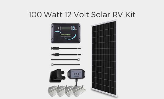 100 Watt 12 Volt Solar RV Kit