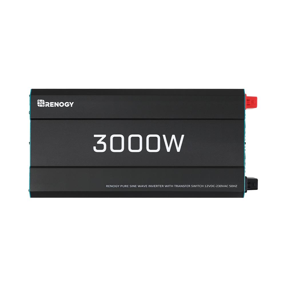 Renogy 3000W 12V Pure Sine Wave Inverter with Power Saving Mode